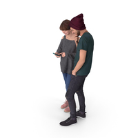 Couple Teens Posed PNG & PSD Images