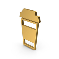 Symbol To Go Coffee Cup Gold PNG & PSD Images
