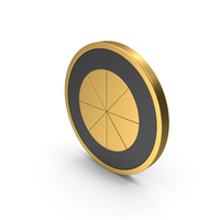 Gold Icon Pie Chart PNG & PSD Images