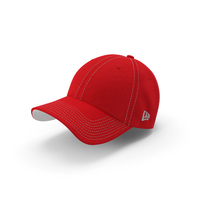 Baseball Cap Red White PNG & PSD Images