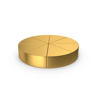 Pie Chart Gold PNG & PSD Images