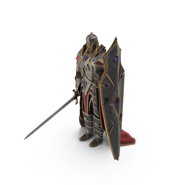 Fantasy Knight Idle Stance PNG & PSD Images