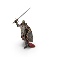 Fantasy Knight Attacking PNG & PSD Images