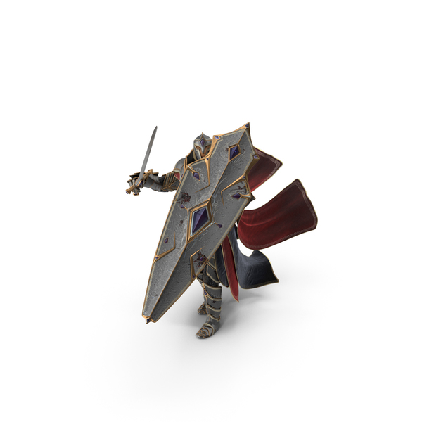 Fantasy Knight Defending From Above PNG & PSD Images