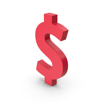 Red Dollar Symbol PNG & PSD Images