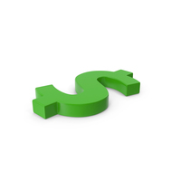 Green Symbol Dollar PNG & PSD Images