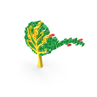 Toon Music Notes Tree PNG & PSD Images