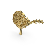 Golden Music Notes Tree Symbol Logo Icon PNG & PSD Images