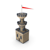 Stylized Castle Watch Tower PNG & PSD Images