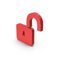 Symbol Unlocked Padlock Red PNG & PSD Images
