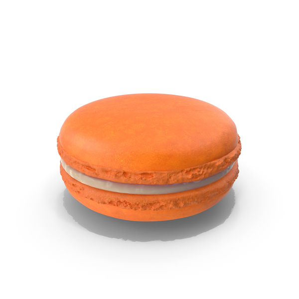 French Macaroon Orange PNG & PSD Images