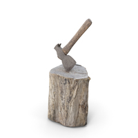 Old Axe on Wood PNG & PSD Images