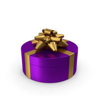 Ring Gift Box Purple Gold PNG & PSD Images