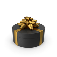 Ring Gift Box Black Gold PNG & PSD Images