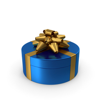 Ring Gift Box Blue Gold PNG & PSD Images