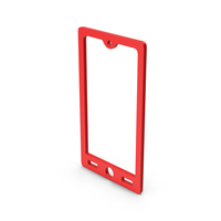 Symbol Smart Phone Red PNG & PSD Images