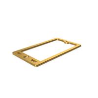 Gold Symbol Smart Phone PNG & PSD Images