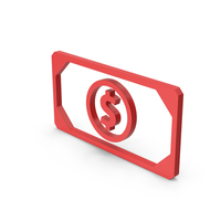 Symbol Banknote Red PNG & PSD Images