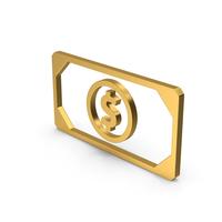 Symbol Banknote Gold PNG & PSD Images