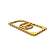 Gold Symbol Banknote PNG & PSD Images