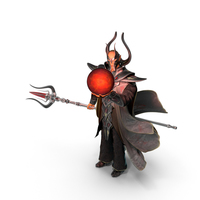 Dark Wizard Holding a Magic Ball PNG & PSD Images