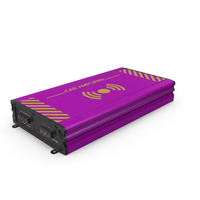 Car Amplifier Pink Used PNG & PSD Images