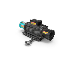 Winch Blue Used PNG & PSD Images