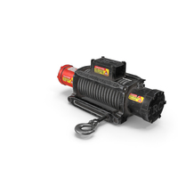 Winch Red Used PNG & PSD Images
