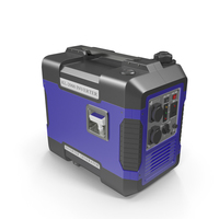 Portable Generator Blue PNG & PSD Images