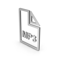 Symbol MP3 File Silver PNG & PSD Images