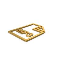 Gold Symbol MP3 File PNG & PSD Images