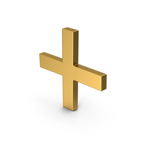 Symbol Plus Gold PNG & PSD Images