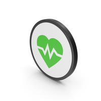Icon Heart Medicine Green PNG & PSD Images