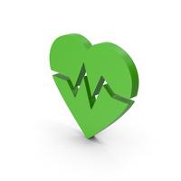 Symbol Heart Medicine Green PNG & PSD Images
