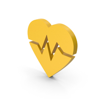 Symbol Heart Medicine Yellow PNG & PSD Images