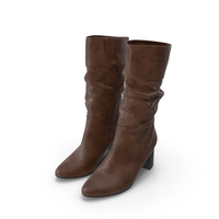 Womens High Heel Shoes Brown PNG & PSD Images
