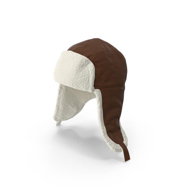 Women's Ear Flap Hat Brown PNG & PSD Images