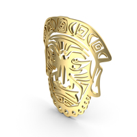 Ancient Tribal Religious Face Mask PNG & PSD Images