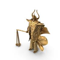 Golden Flail Warrior PNG & PSD Images