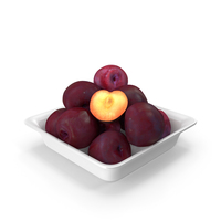 Plums Square Bowl PNG & PSD Images