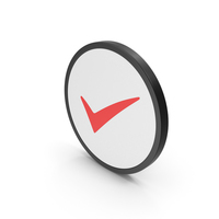 Icon Checkmark Red PNG & PSD Images