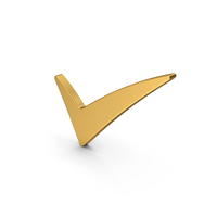 Symbol Checkmark Gold PNG & PSD Images