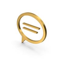 Symbol Mind Gold PNG & PSD Images