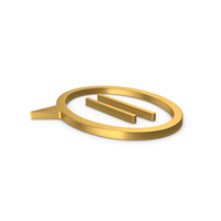 Gold Symbol Mind PNG & PSD Images