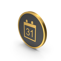 Gold Icon Calendar PNG & PSD Images