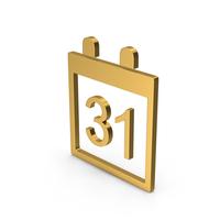 Symbol Calendar Gold PNG & PSD Images