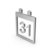 Symbol Calendar Silver PNG & PSD Images