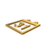 Gold Symbol Calendar PNG & PSD Images