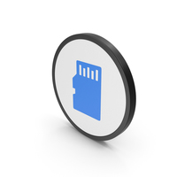 Icon SD Card Blue PNG & PSD Images