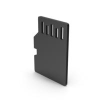 Symbol SD Card Black PNG & PSD Images